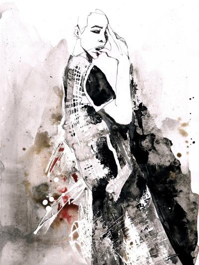 Brandon Ligons Illustration by Florian Wowretzko Watercolor, Ink, Paper, Copic, Blender, Salt (3)
